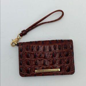 BRAHMIN Wristlet Wallet 6x3.5 inches